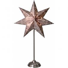 Звезда на подставке ANTIQUE, 55 см, темное серебро