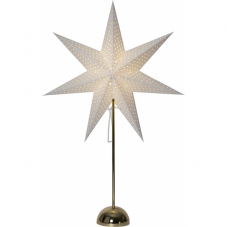 Звезда на подставке LOTTIE, 75 см, на батарейках, белый и золото
