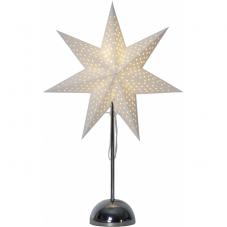 Звезда на подставке LOTTIE, 75 см, на батарейках, белый и хром