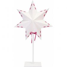 Звезда на подставке VIRA, 54 см, белый с красным