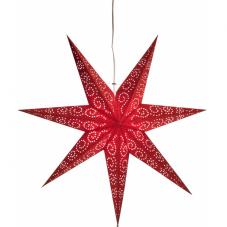 Звезда-подвес ANTIQUE, 60 см, красный