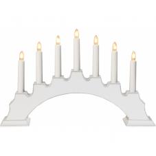 Горка рождественская EVA, 7 свечей, 28 см, белый