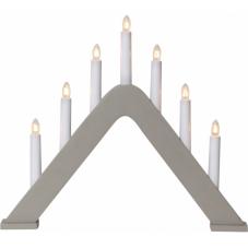 Горка рождественская JARVE, 7 свечей, 36 см, светло-серая