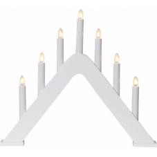 Горка рождественская JARVE, 7 свечей, 36 см, белая