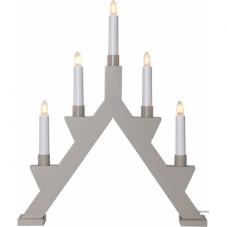Горка рождественская ZACK, 5 свечей, 41 см, бежево-серый