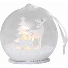 Светильник рождественский FAUNA, 9 см, белый