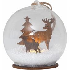 Светильник рождественский FAUNA, 9 см, коричневый