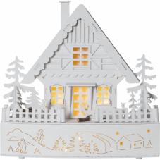 Светильник рождественский TRIER, 28 см, на батарейках, белый