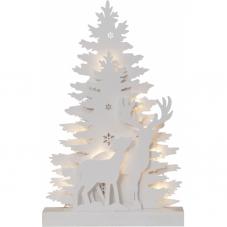 Светильник рождественский FAUNA, 48 см, белый