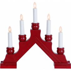 Горка рождественская KARIN, 5 свечей, 28 см, красная