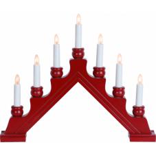 Горка рождественская KARIN-7, 7 свечей, 35 см, красная