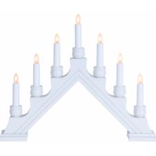 Горка рождественская KARIN-7 со светодиодами LED, 7 свечей, 35 см, белая