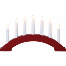 Горка рождественская BEA, 7 свечей, 22 см, красный