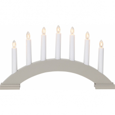 Горка рождественская BEA, 7 свечей, 22 см, бежево-серый