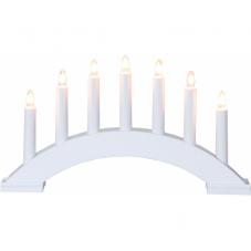 Горка рождественская BEA, 7 свечей, 22 см, белый