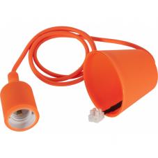 Патрон с  проводом потолочный COLOR,  1,2 м, Е 27, оранжевый
