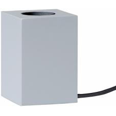 Светильник декоративный LYS, 10 см , Е 27, серебристый