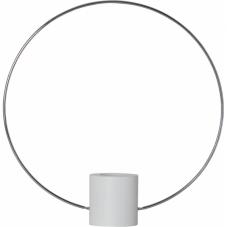 Светильник декоративный FOREVER, 37 см , Е 27, белый, хром