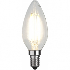 Лампа CLEAR FILAMENT универсальная 4 W (Ватта),  патрон Е14 LED, теплый белый