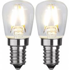Лампа CLEAR FILAMENT универсальная LED 1.3 W (Ватта),  патрон Е14, 2 шт, 58 мм, теплый белый