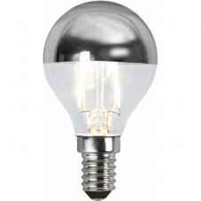 Лампа CROWN MIRROR Е14 LED, прозрачный, серебрянный