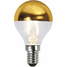 Лампа CROWN MIRROR Е14 LED, прозрачный, золотой