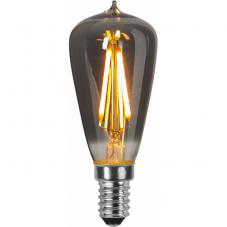 Лампа HEAVY SMOKY FILAMENT,  Е14 LED, 92 мм, дымчатый