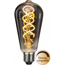 Лампа HEAVY SMOKY FILAMENT,  Е27 LED, 140 мм, дымчатый