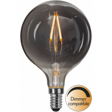 Лампа HEAVY SMOKY FILAMENT,  Е14 LED, 124 мм, дымчатый