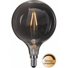 Лампа HEAVY SMOKY FILAMENT,  Е14 LED, 143 мм, дымчатый