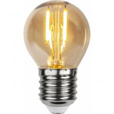 Лампа LOW VOLTAGE  Е27 LED, 70 мм, комплект 4 штуки, янтарный, теплый белый