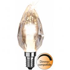 Лампа DIAMOND Е14 LED, 95 мм, прозрачный, теплый белый