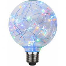 Лампа DECOLED,  Е27 RGB LED, 13.8 см разноцветная с миганием