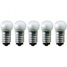 Лампочка 12 V (Вольта), 0,6 W (Ватта),  патрон Е5, 5 шт.