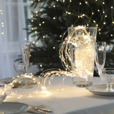 Гирлянда BOUQUET DEW DROP, 360 LED ламп, 6 шт х 90 см, 8 шт х 140 см, 9 шт х 190 см,теплый белый