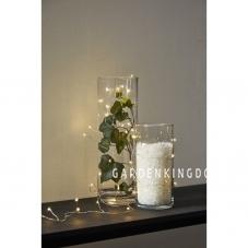 Гирлянда CRAB  DEW DROP, 100 LED ламп, дневной белый,  серебрянный провод
