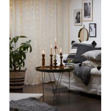 Гирлянда - занавес CURTAIN  DEW DROP, 200 LED ламп, дневной белый,  серебрянный провод