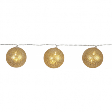 Гирлянда  JOLLY GLITTER LIGHT, 4,35 м, прозрачный провод, золотой