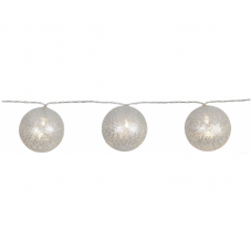 Гирлянда  JOLLY GLITTER LIGHT, 4,35 м, прозрачный провод, серебрянный