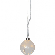 Светильник подвесной шар GLOW на батарейках, 11 см, теплый белый