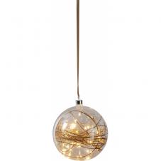 Светильник подвесной шар GLOW, 20 см, теплый белый, коричневый
