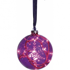 Гирлянда-шар VESTA, 12 см, стекло, фиолетовый