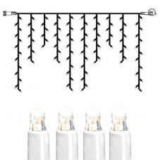 Гирлянда сосульки-расширение, 2х1 м, холодный белый, белый провод, серия SYSTEM LED