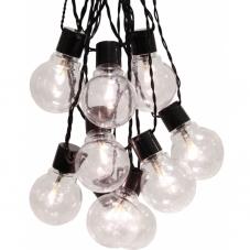 Гирлянда для улицы PARTAJ, 16 ламп, 9,5 м,  теплый белый, прозрачный