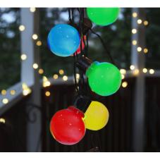 Гирлянда для улицы PARTAJ, 16 ламп, 9,5 м, разноцветная