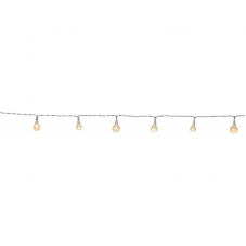 Гирлянда для улицы BERRY, 50 LEDламп, длина 5 м, прозрачные плафоны, прозрачный провод, теплый белый