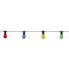 Гирлянда для улицы CIRCUS FILAMENT, 10 ламп, 10 м, разноцветный прозрачный