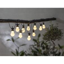 Гирлянда для улицы CIRCUS, 10 ламп, длина 4,05 м, черный провод, матовые плафоны, теплый белый