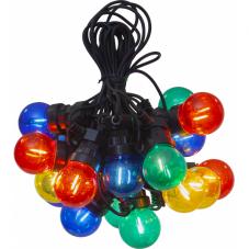 Гирлянда для улицы SMALL CIRCUS FILAMENT, 20 ламп, длина 8.55 м, черный провод, цветные плафоны