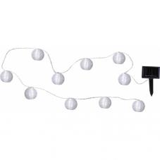 Гирлянда садовых светильников FESTIVAL Solar energy, 4,7 м, белый